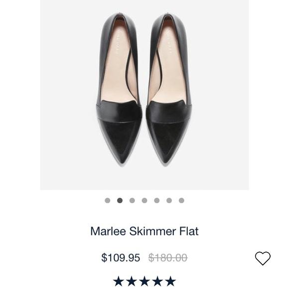 8ef1ddff6ca Brand New Cole Haan Marlee Skimmer Flat Black